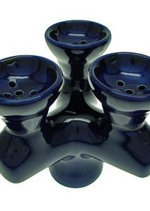 Triple headed hookah bowl AKA Hookah Head